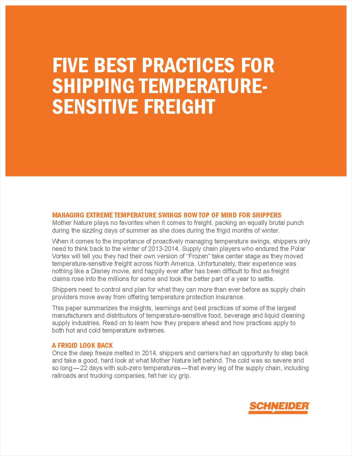 Five Best Practices the Polar Vortex Taught Shippers About Temperature Protection