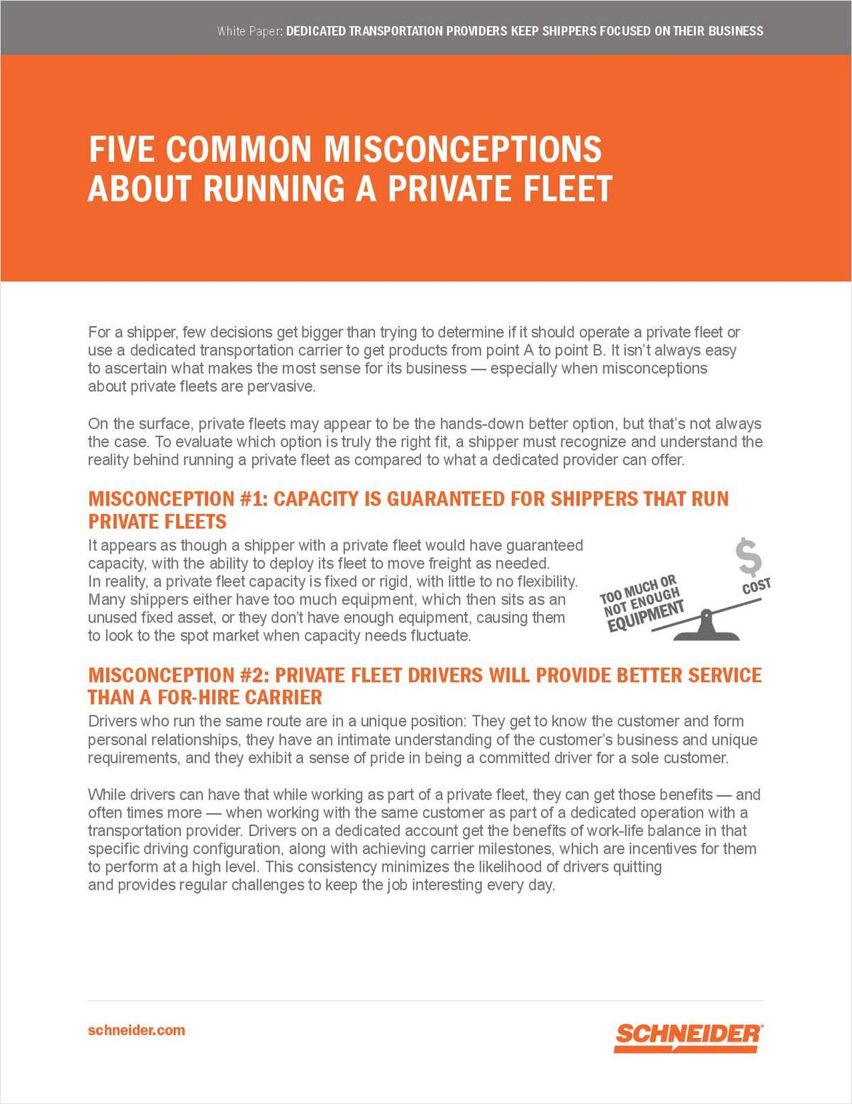 Five Common Misconceptions About Running a Private Fleet