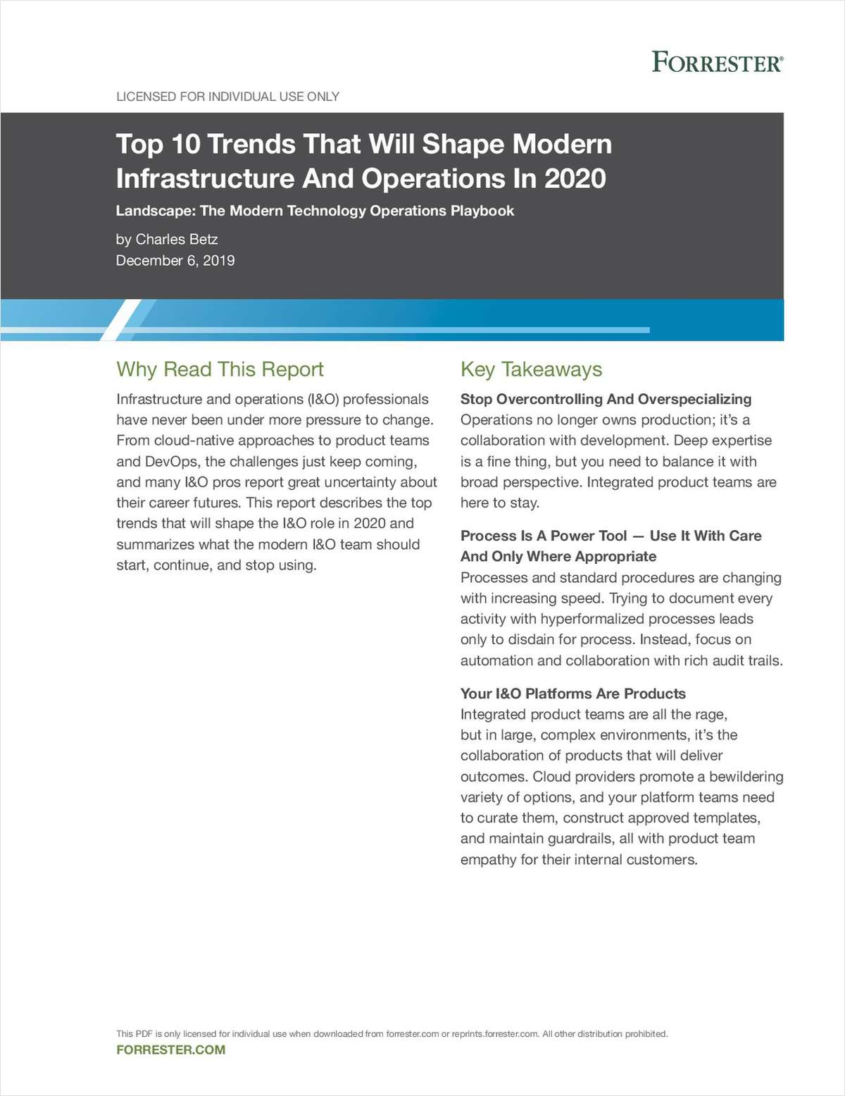 Forrester: Top 10 Trends That Will Shape Modern Infrastructure & Ops in 2020
