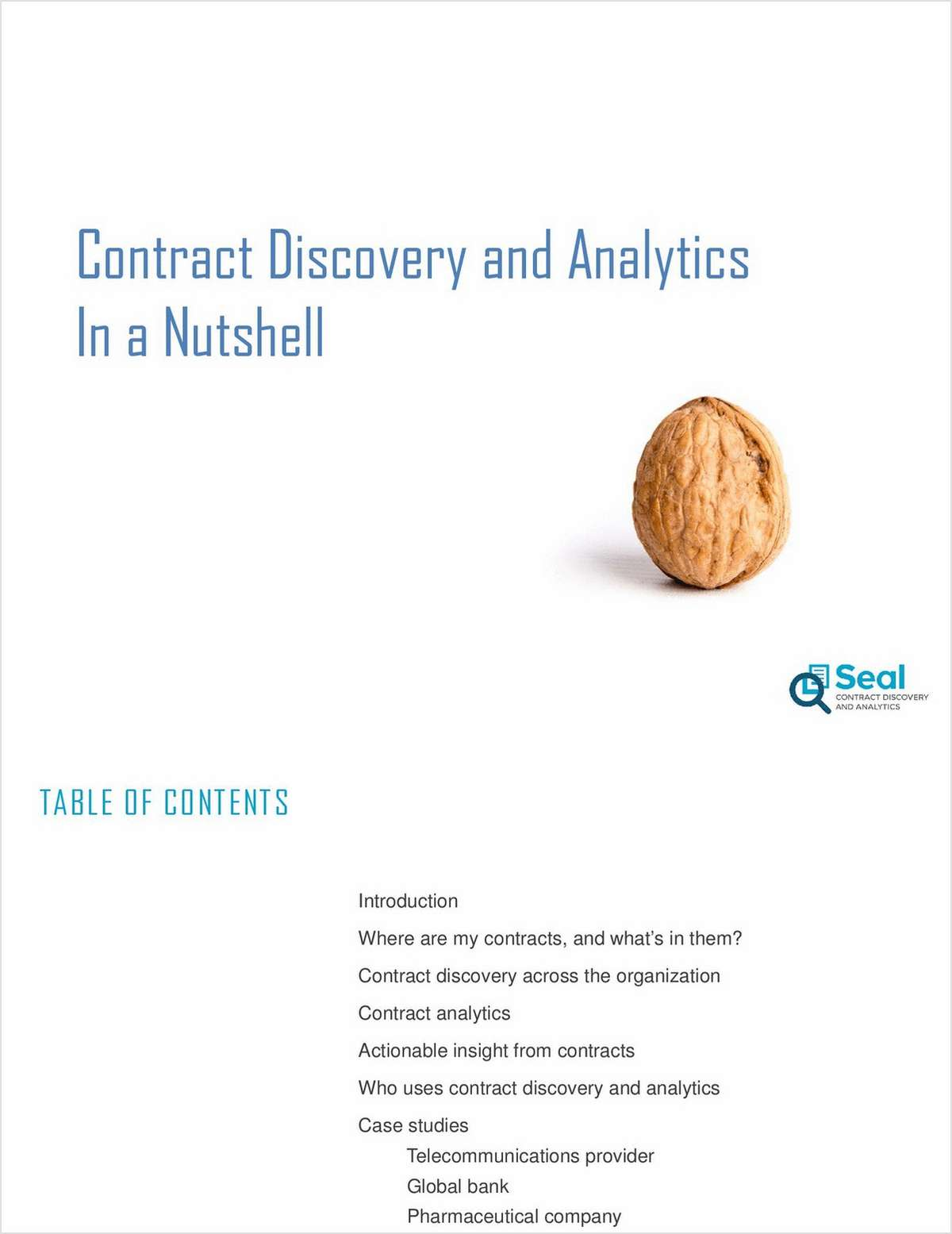 Contract Discovery and Analytics in a Nutshell