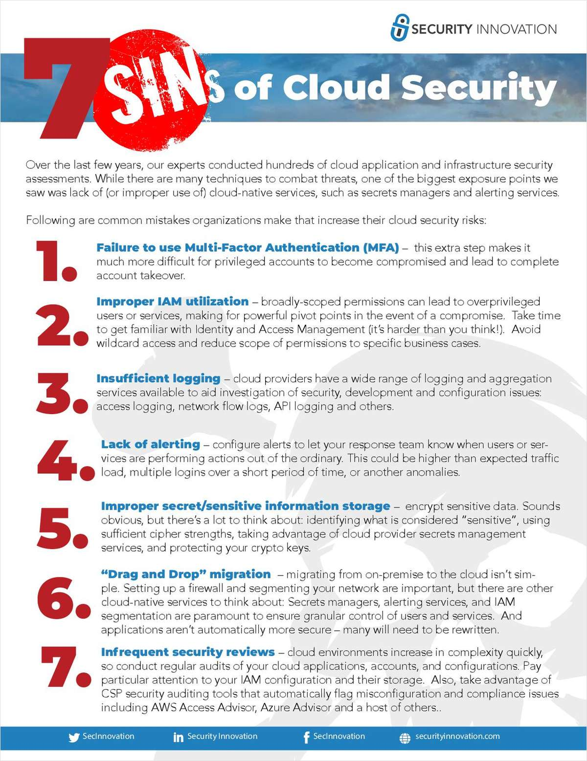 The 7 Sins of Cloud Security