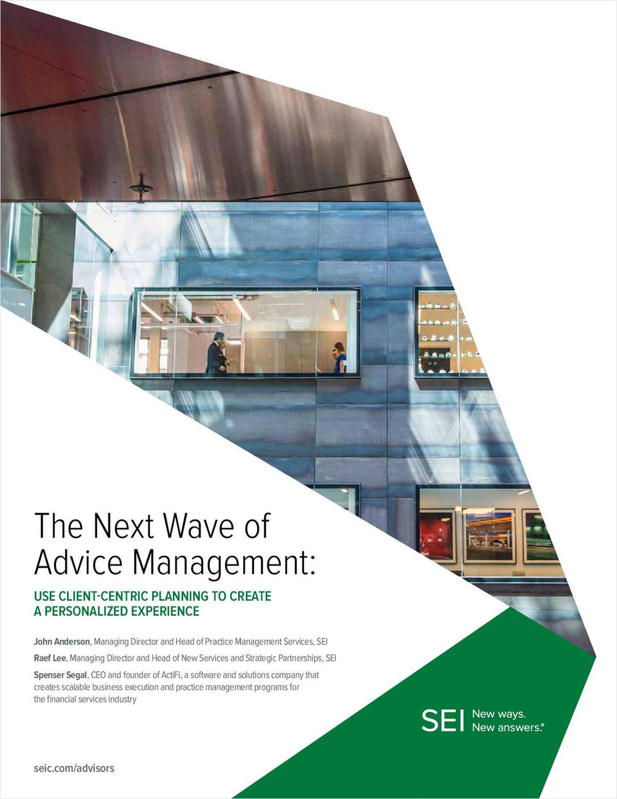 The Next Wave of Advice Management: Use Client-Centric Planning to Create a Personalized Experience