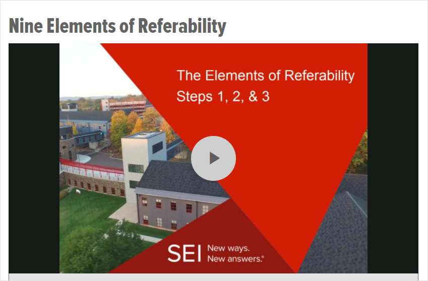 The Nine Elements of Advisor Referability: Become a Referral Builder, Not a Referral Blocker