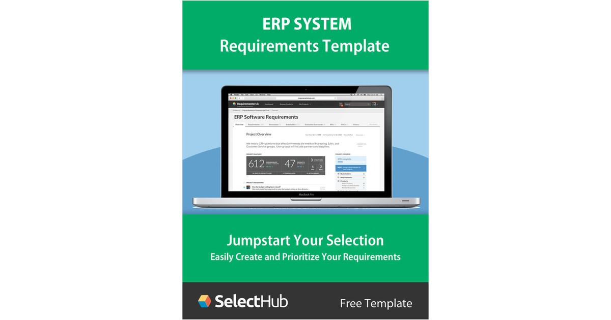 ERP System Requirements Gathering Template, Free SelectHub Template