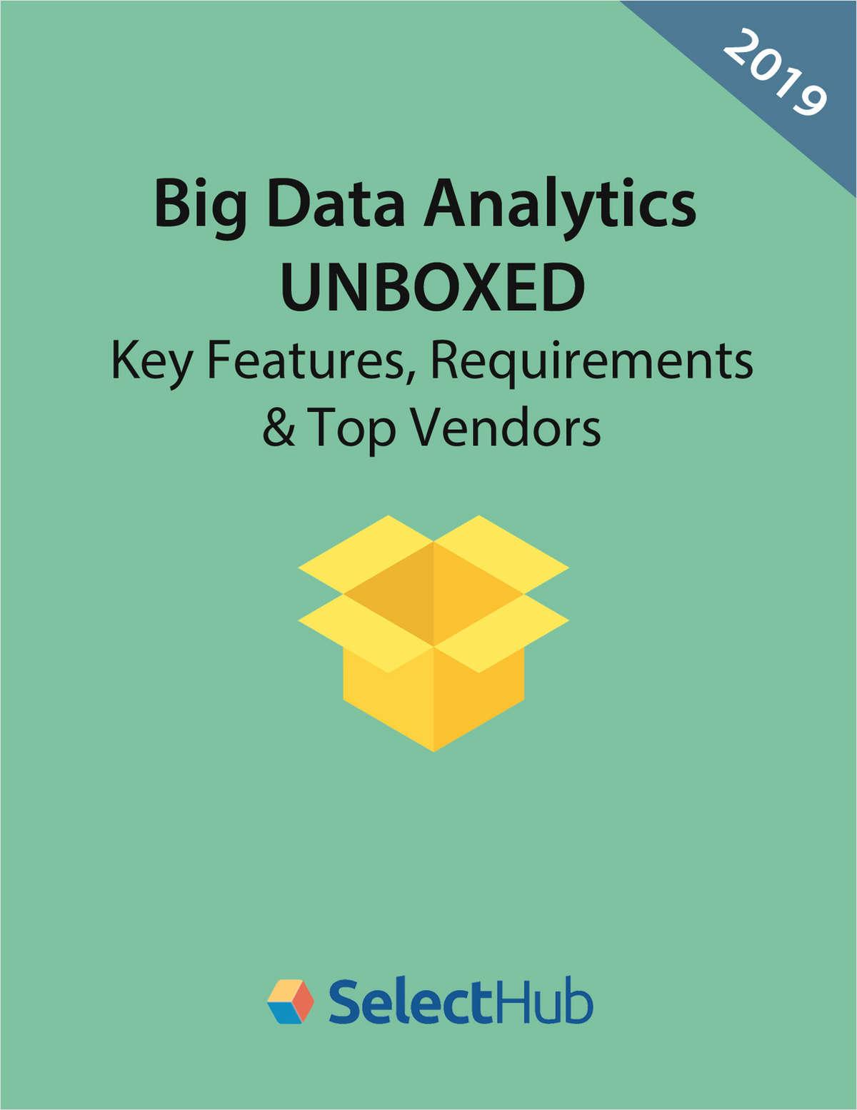 Big Data Analytics Tools-- Features & Requirements Checklist