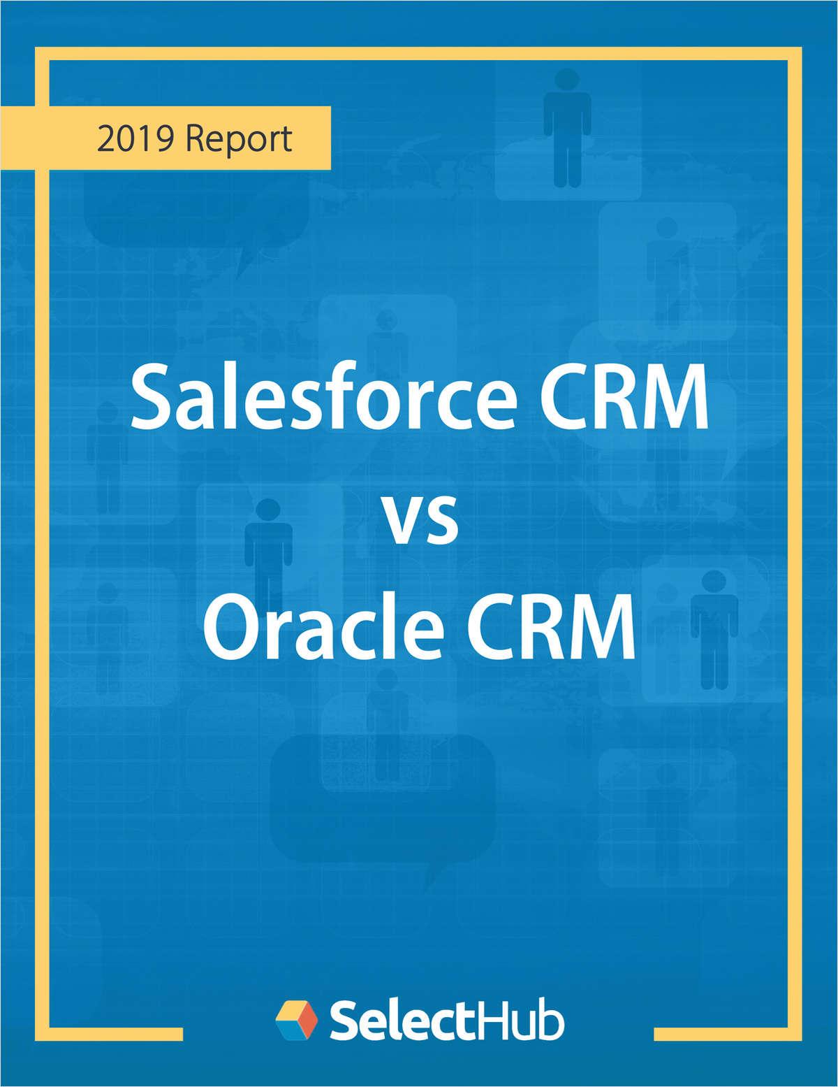 Salesforce CRM vs. Oracle Sales Cloud -Competitive Report