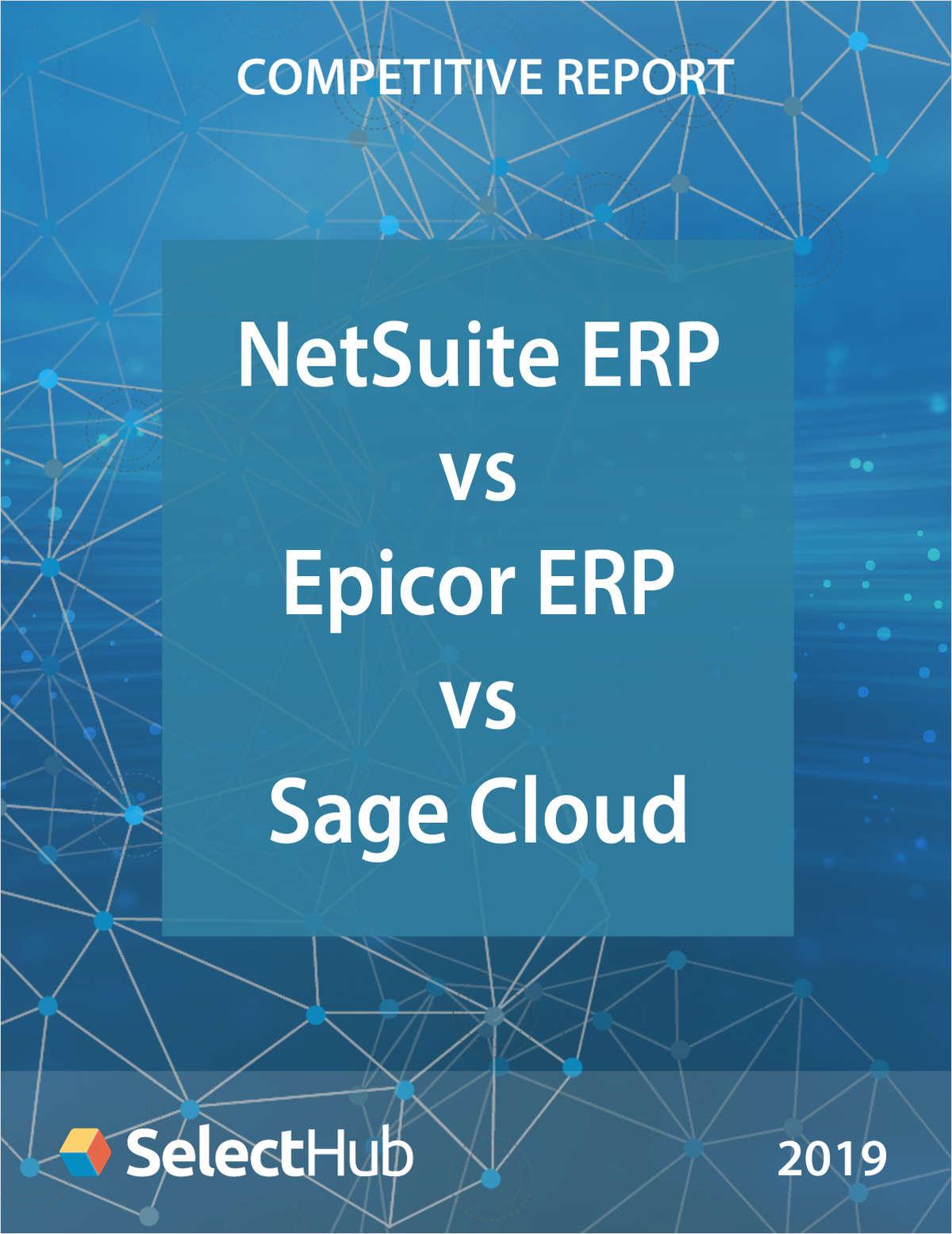 NetSuite ERP vs. Epicor ERP vs. Sage Business Cloud―Competitive Report