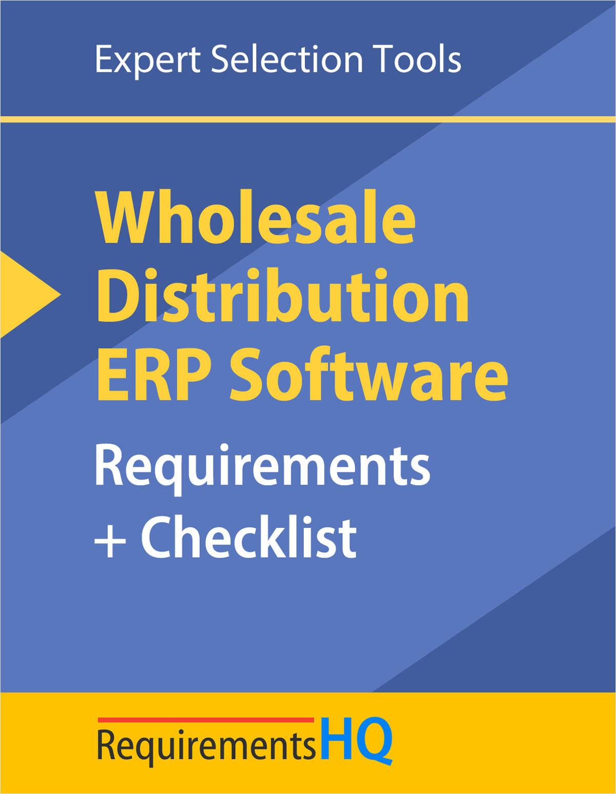 Wholesale Distribution: ERP Software Requirements & Vendor Checklist