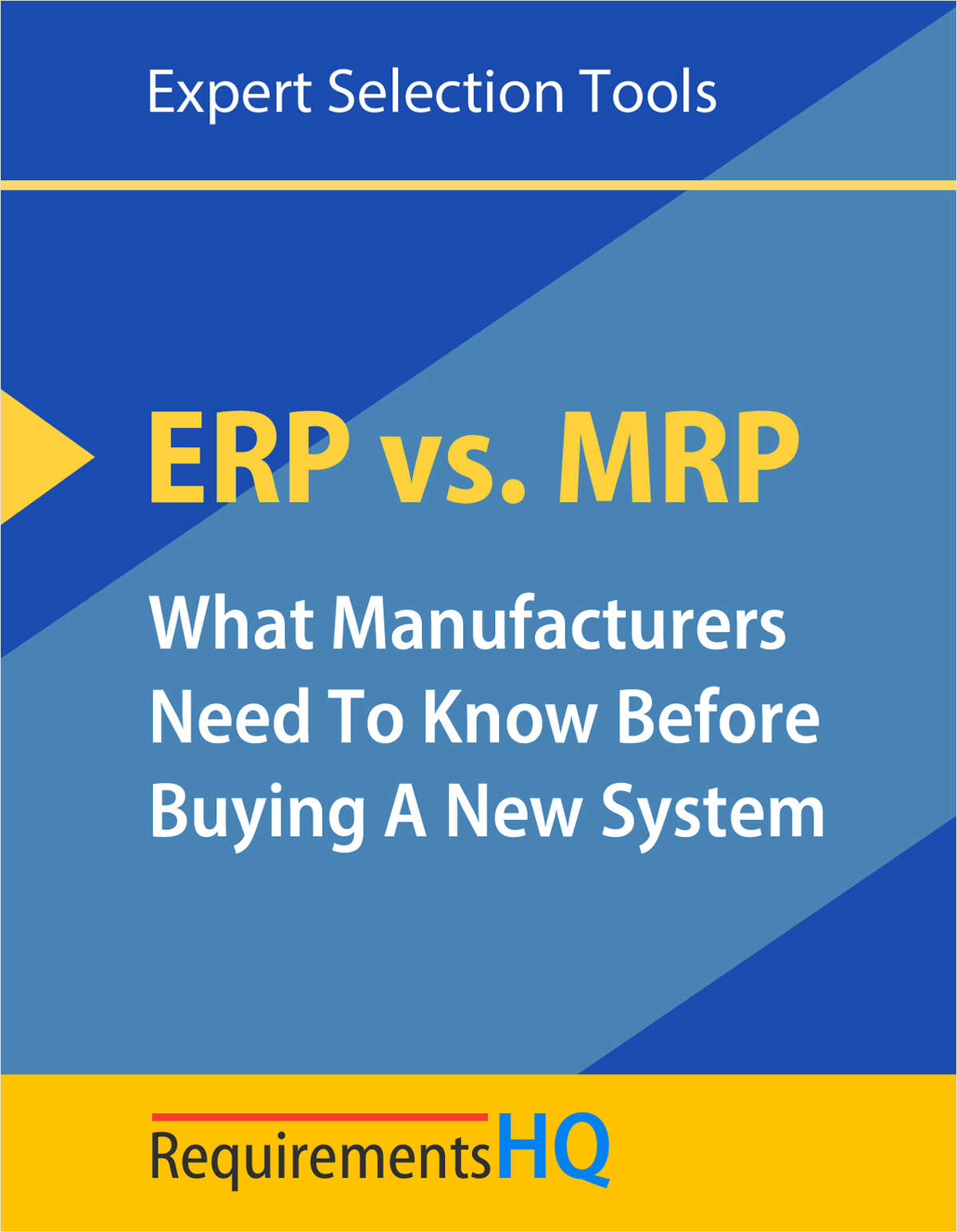 ERP vs. MRP--What Manufacturers Should Know Before Buying a New ERP System