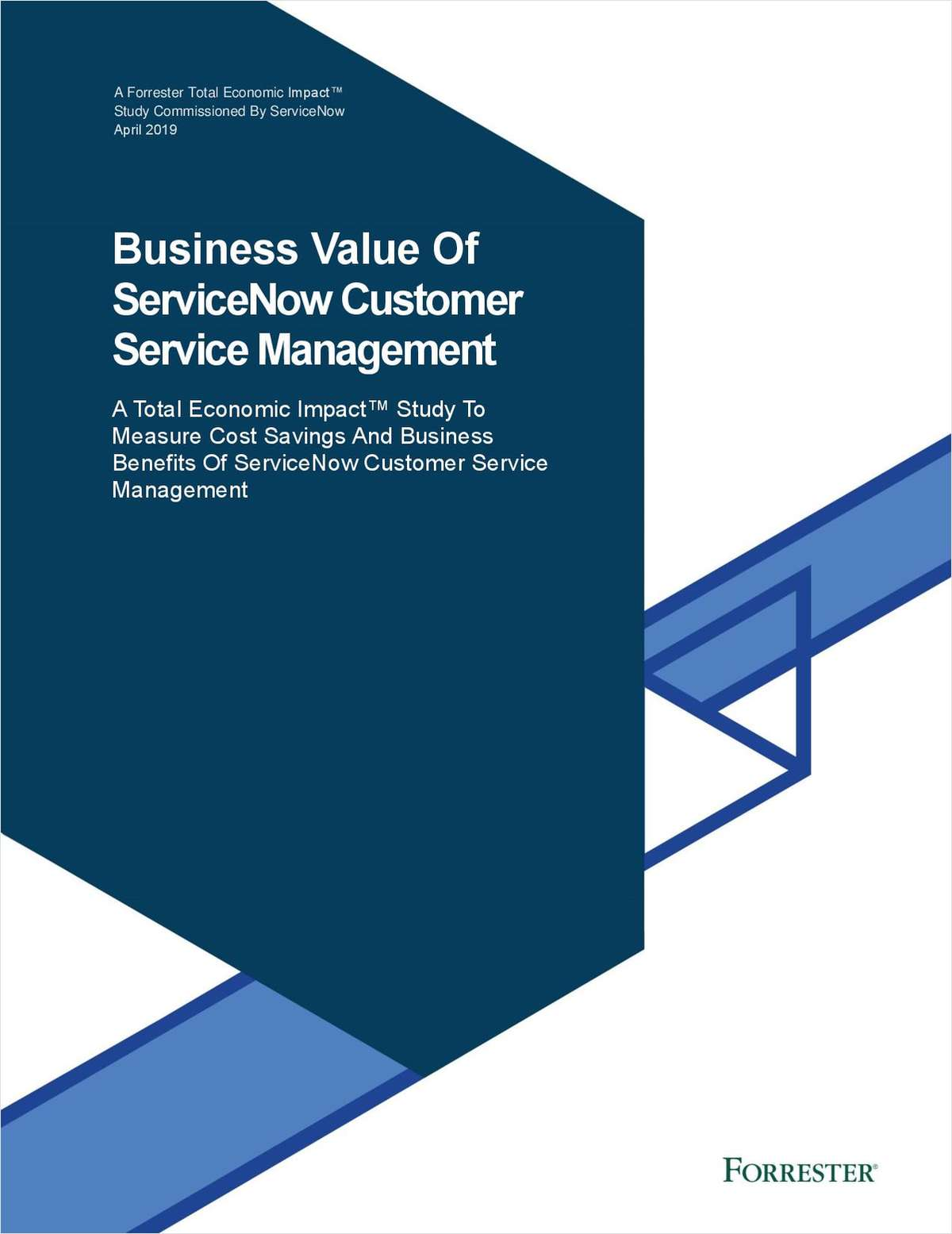 Forrester TEI: Business Value of ServiceNow Customer Service Management