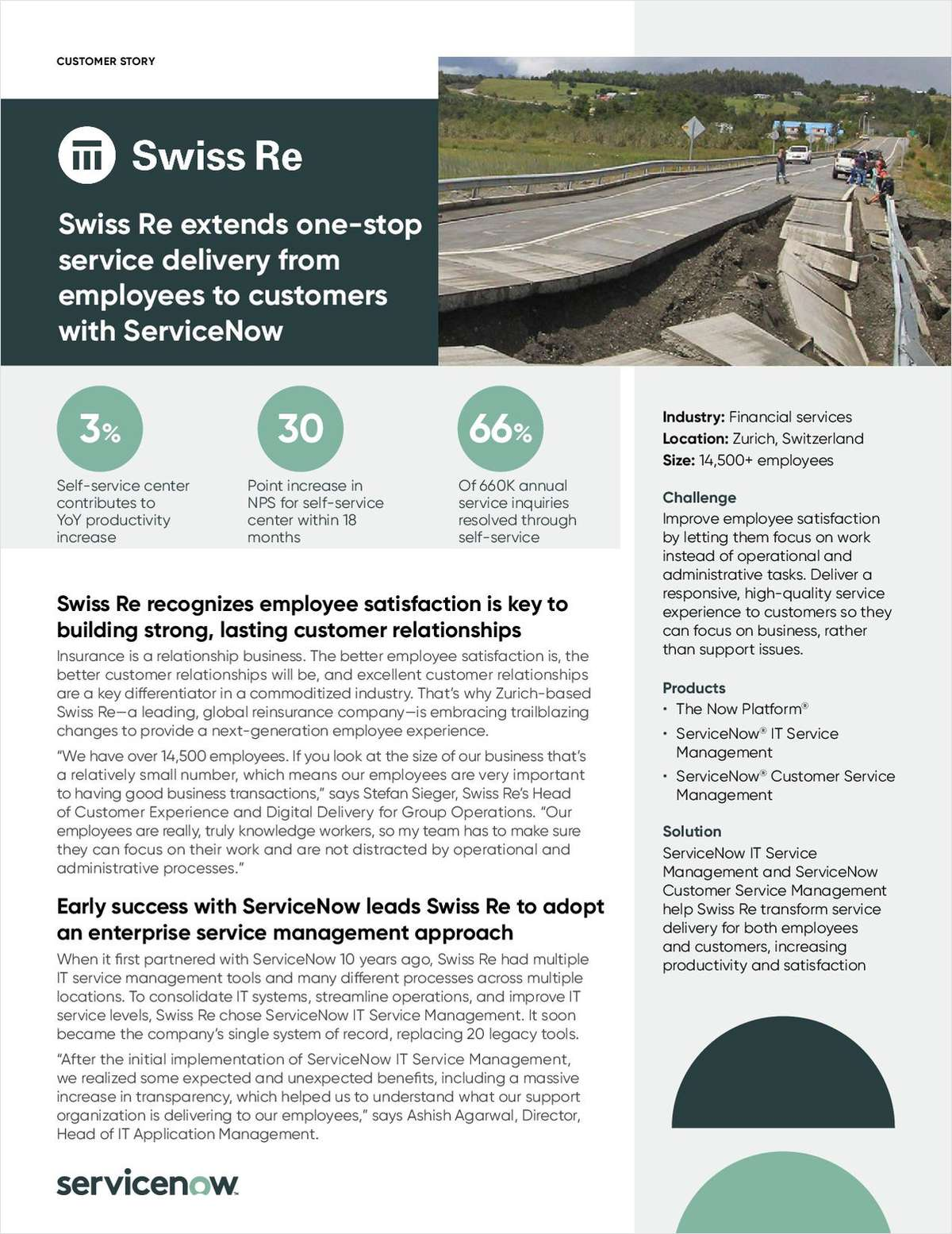 Swiss Re Extends One-Stop Service Delivery From Employees to Customers with ServiceNow