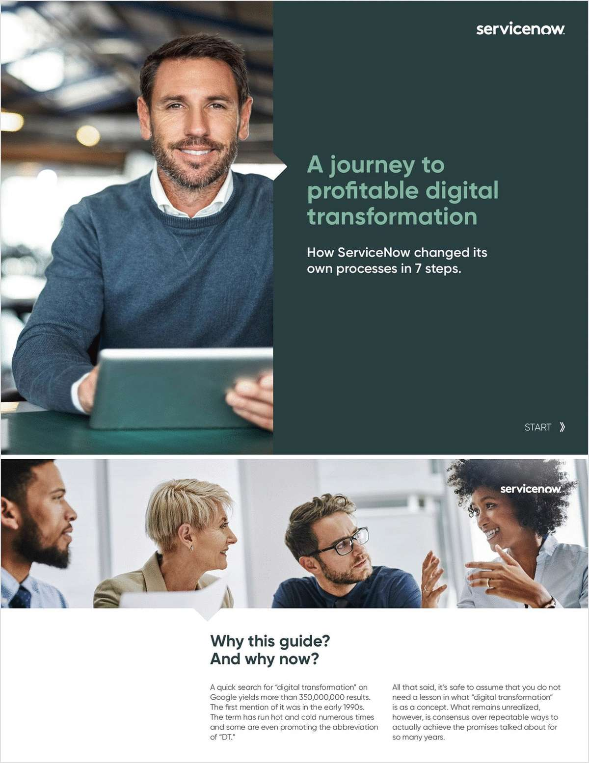 A Journey to Profitable Digital Transformation: How ServiceNow Changed its Own Process in 7 Steps