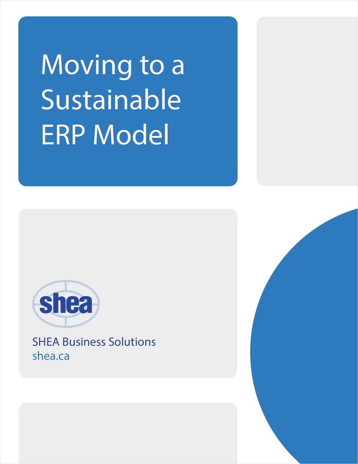 Moving to a Sustainable ERP Model