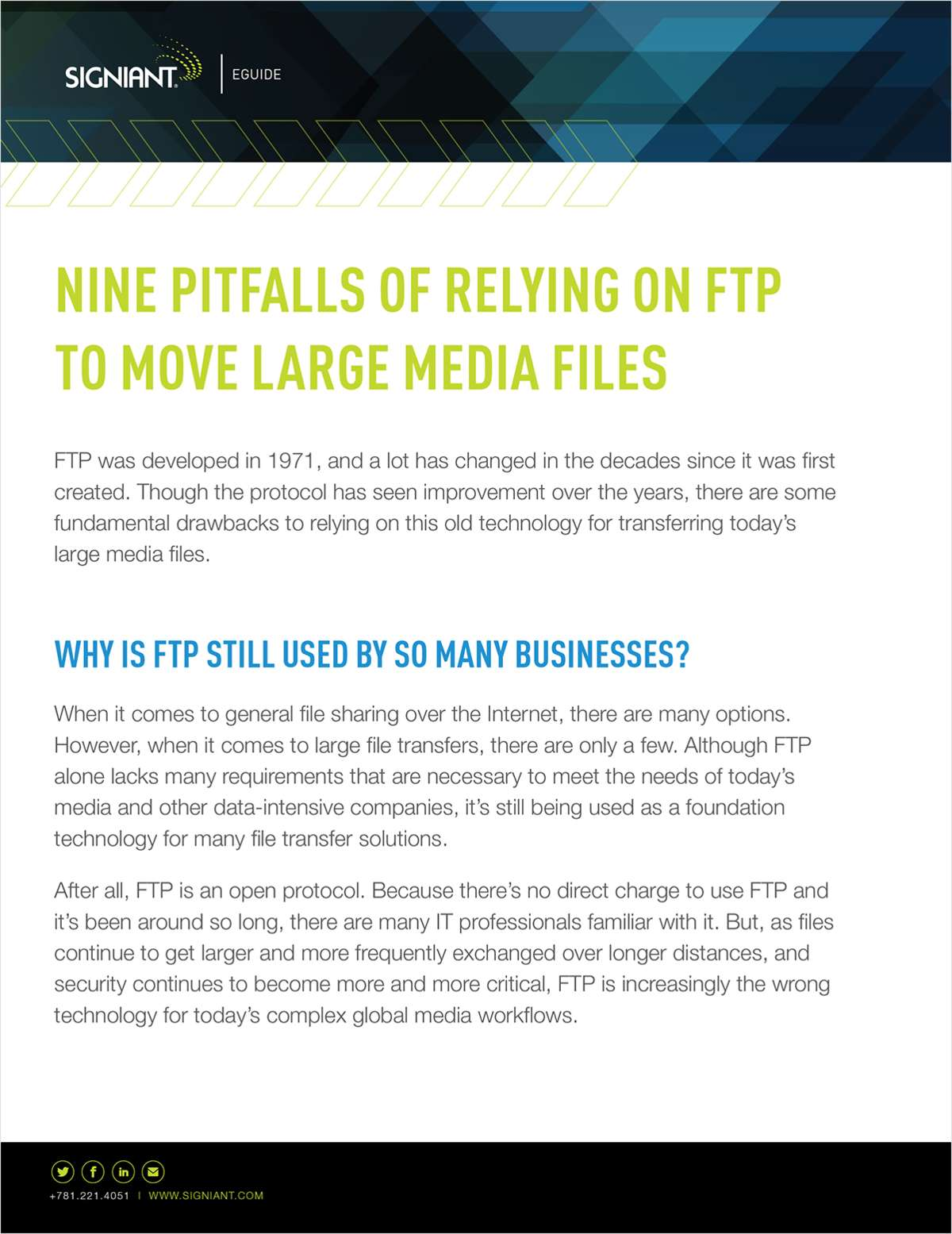 NINE PITFALLS OF RELYING ON FTP TO MOVE LARGE MEDIA FILES