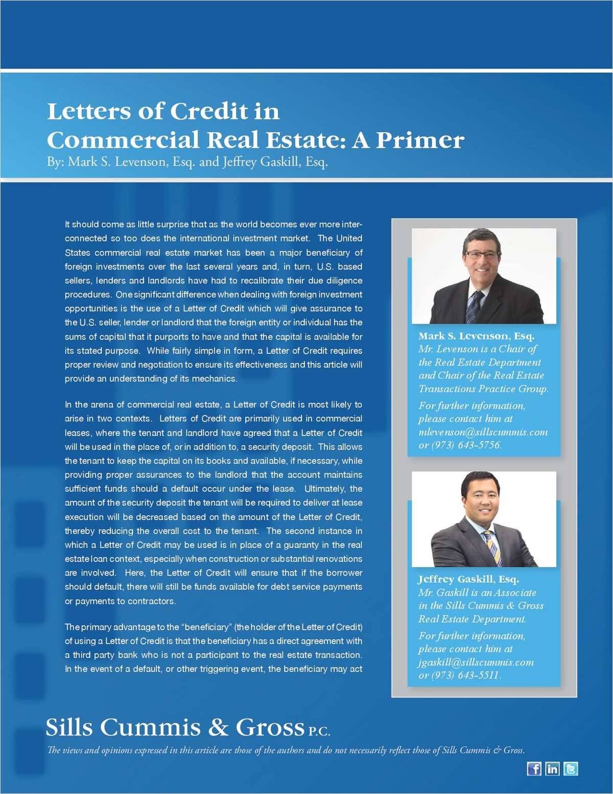 Letters of Credit in Commercial Real Estate: A Primer