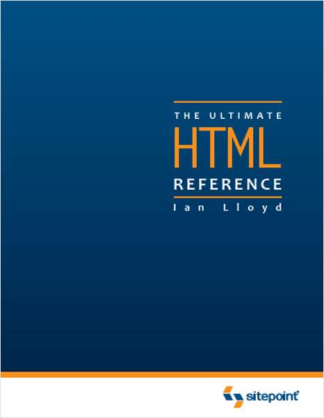 The Ultimate HTML Reference- Free 85 Page Preview