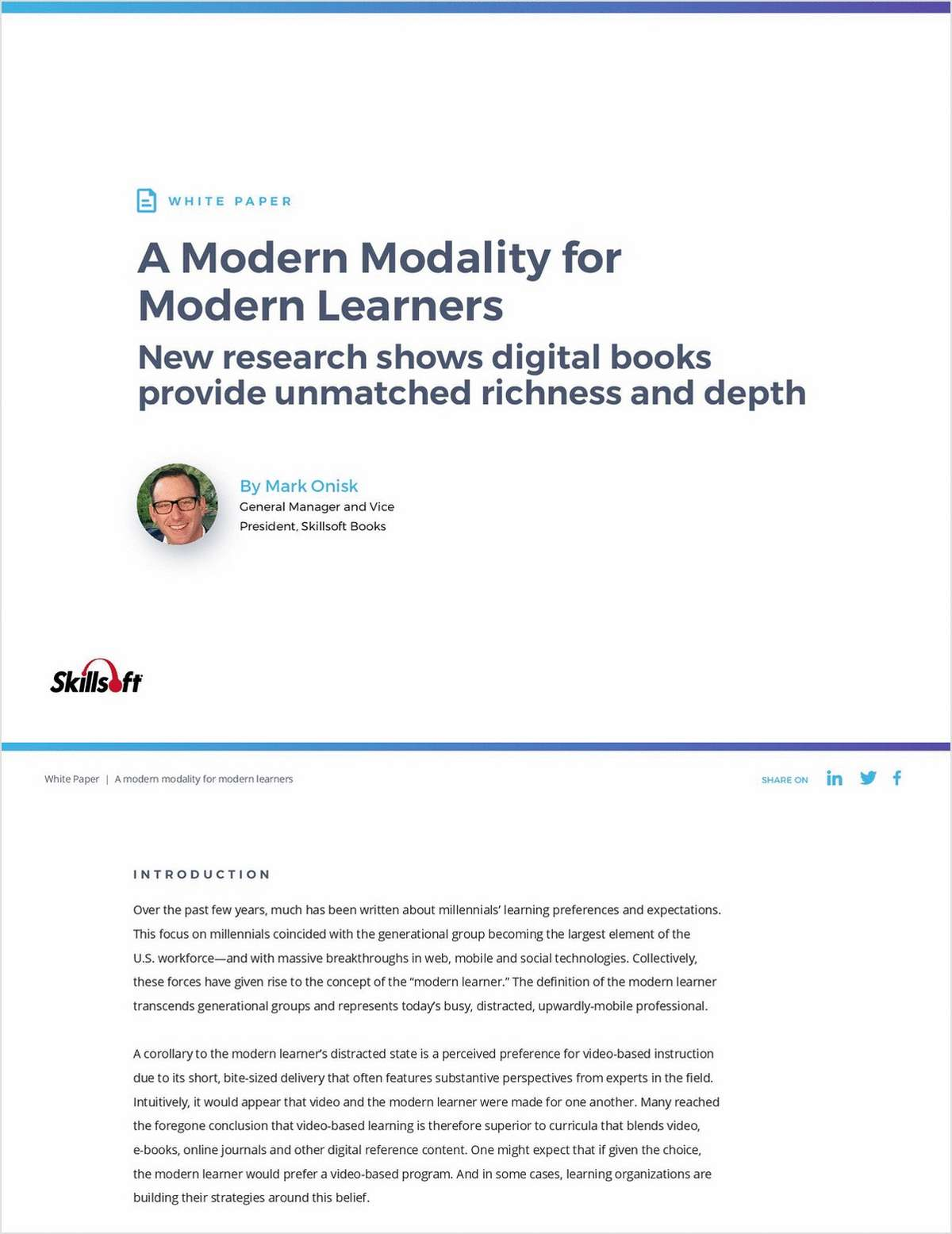 Digital Books: A Modern Modality for Modern Learners