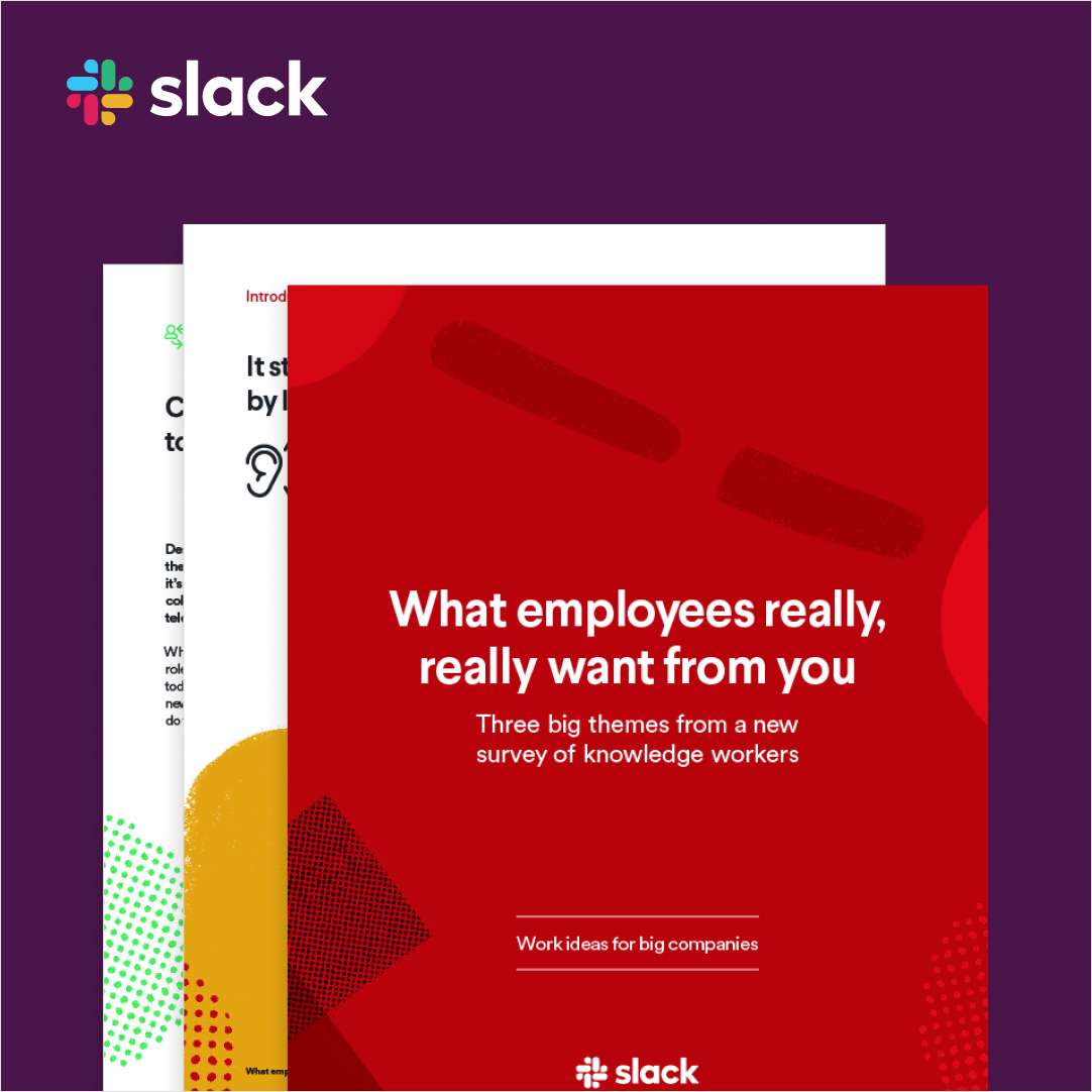What your employees really, really want you to know