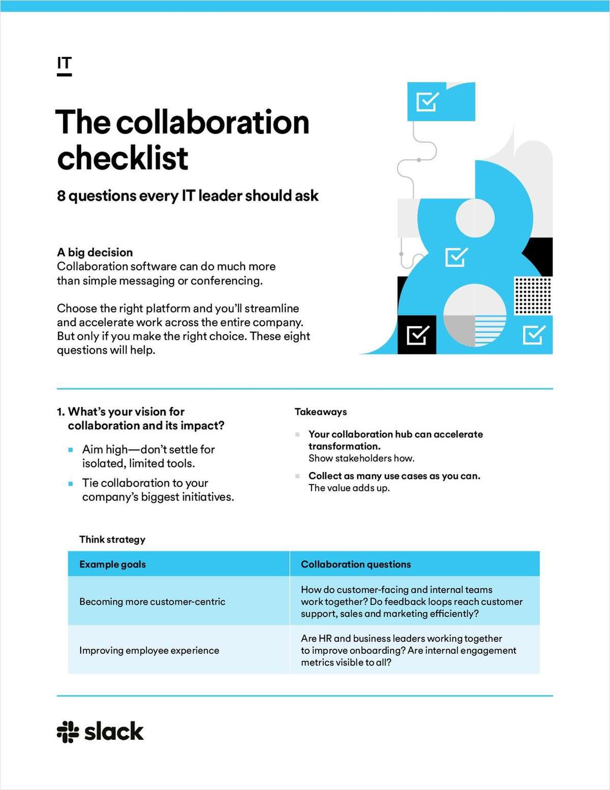 The collaboration checklist