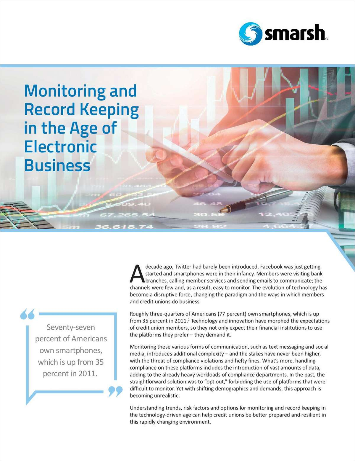 Monitoring and Record Keeping for Credit Unions in the Age of Electronic Business