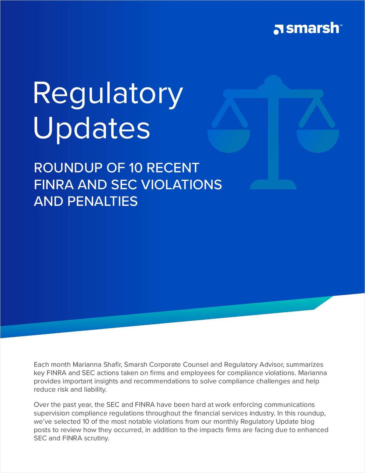 Regulatory Update: Roundup of 10 Recent FINRA and SEC Violations and Penalties