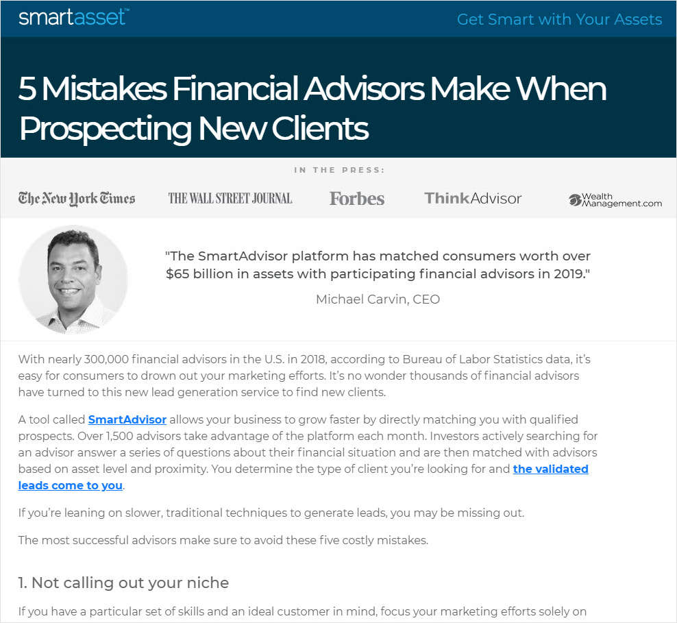 5 Mistakes Financial Advisors Make When Prospecting New Clients