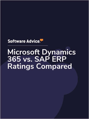 Microsoft Dynamics 365 vs. SAP ERP Ratings Compared