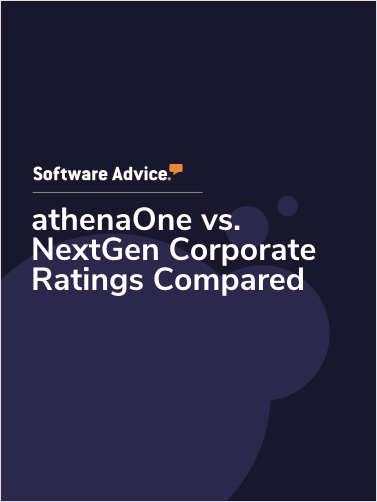 athenaOne vs. NextGen Corporate Ratings Compared