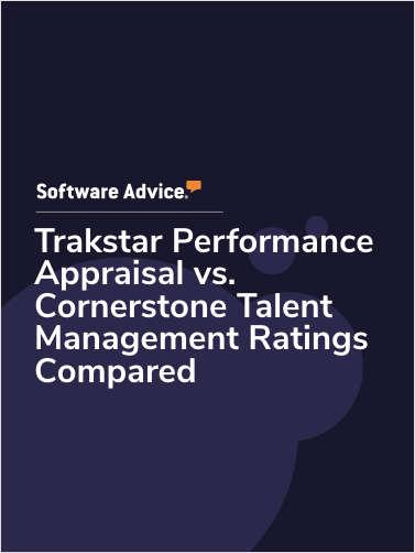 Trakstar Performance Appraisal Software vs. Cornerstone Talent Management Ratings Compared