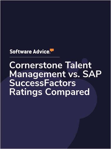 Cornerstone Talent Management vs. SAP SuccessFactors Ratings Compared