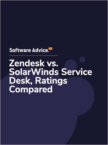 Zendesk vs. SolarWinds Service Desk Ratings, Compared