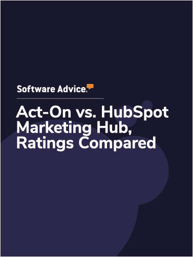 Act-On vs. HubSpot Marketing Hub Ratings, Compared