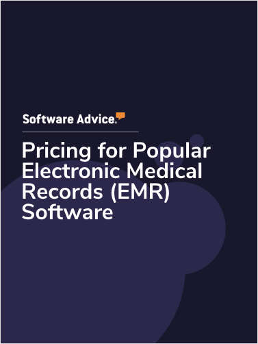 Pricing for Popular Electronic Medical Records (EMR) Software
