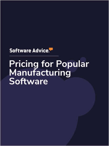 Pricing for Popular Manufacturing Software