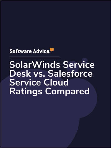 SolarWinds Service Desk vs. Salesforce Service Cloud Ratings Compared