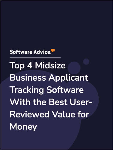 Top 4 Midsize Business Applicant Tracking Software With the Best User-Reviewed Value for Money