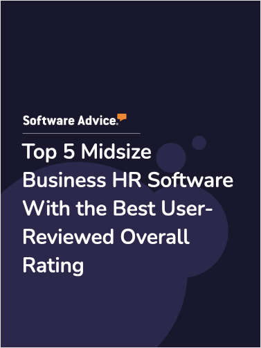 Top 5 Midsize Business HR Software With the Best User-Reviewed Overall Rating