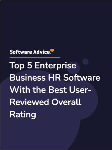 Top 5 Enterprise Business HR Software With the Best User-Reviewed Overall Rating