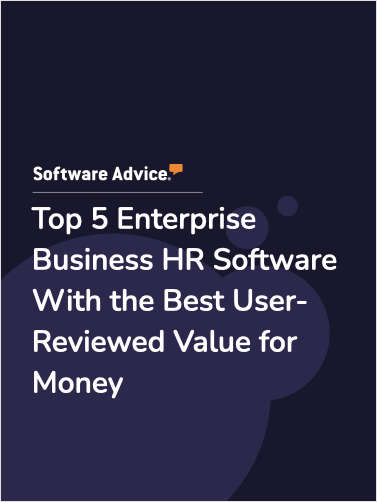 Top 5 Enterprise Business HR Software With the Best User-Reviewed Value for Money