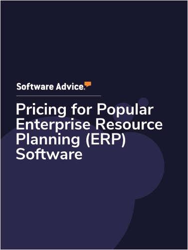 Pricing for Popular Enterprise Resource Planning (ERP) Software