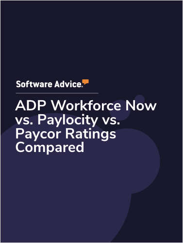 ADP Workforce Now vs. Paylocity vs. Paycor Ratings Compared
