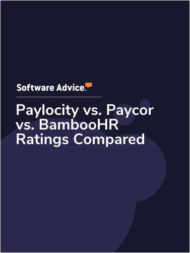 Paylocity vs. Paycor vs. BambooHR Ratings Compared