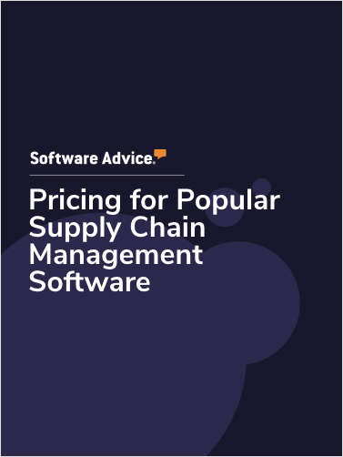 Pricing for Popular Supply Chain Management Software