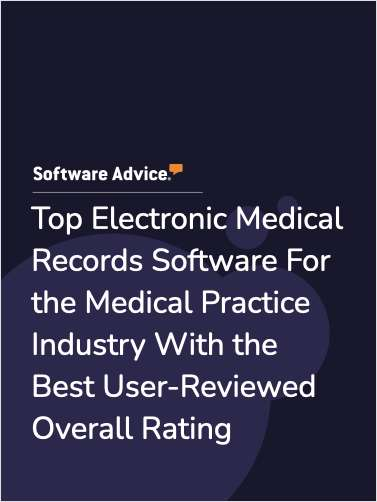 Top Electronic Medical Records Software For the Medical Practice Industry With the Best User-Reviewed Overall Rating