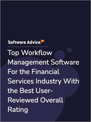 Top Workflow Management Software For the Financial Services Industry With the Best User-Reviewed Overall Rating