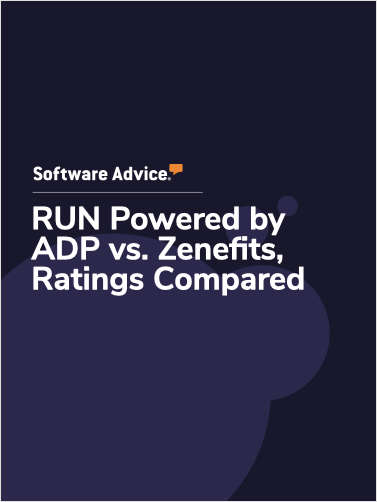 RUN Powered by ADP vs. Zenefits Ratings, Compared