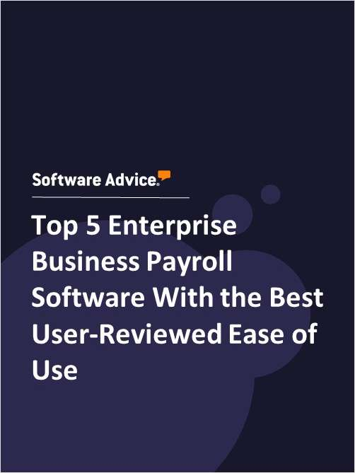 Top 5 Enterprise Business Payroll Software With the Best User-Reviewed Ease of Use