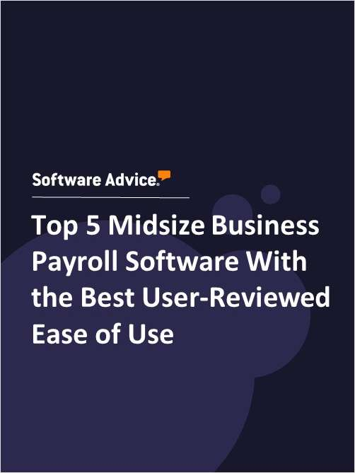 Top 5 Midsize Business Payroll Software With the Best User-Reviewed Ease of Use