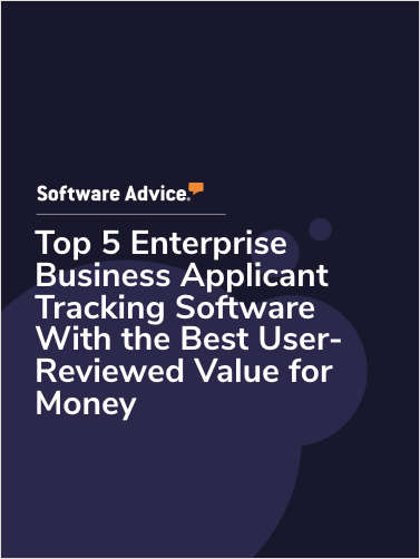 Top 5 Enterprise Business Applicant Tracking Software With the Best User-Reviewed Value for Money