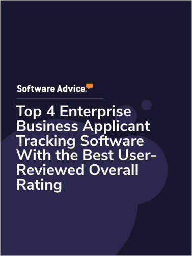Top 4 Enterprise Business Applicant Tracking Software With the Best User-Reviewed Overall Rating